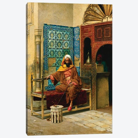 The Smoker, 1903 3-Piece Canvas #BMN7754} by Ludwig Deutsch Canvas Print