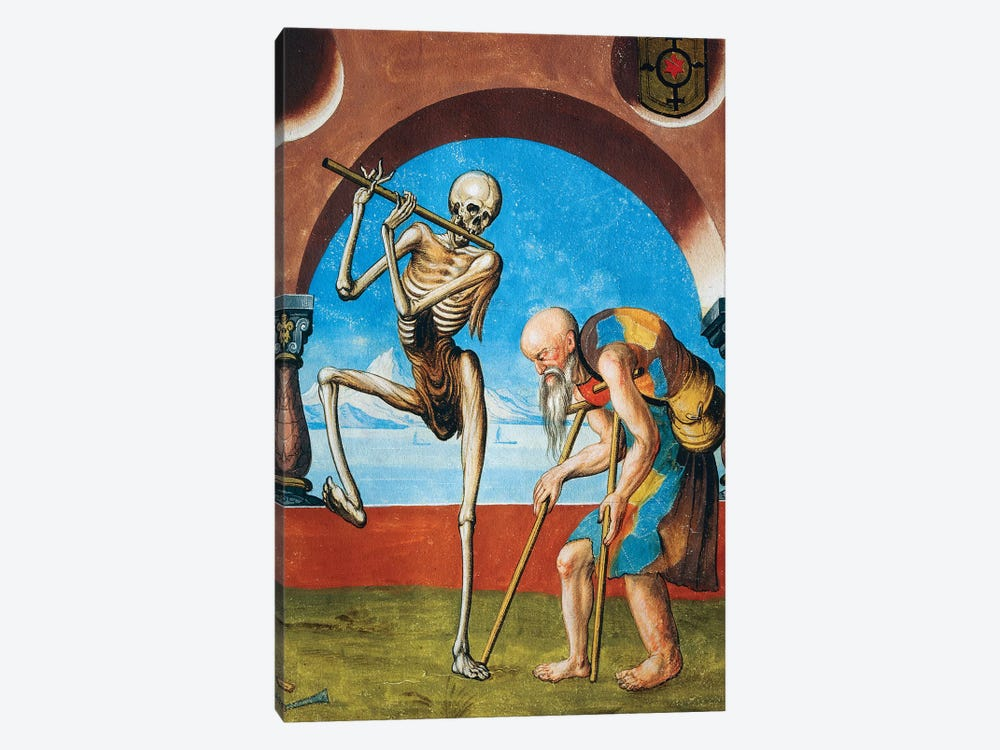 Death With Beggar, Detail Of Death, Artisan And Beggar From The Dance Of Death Cycle By Albrecht Kauw, 1649 by Niklaus Manuel 1-piece Canvas Art Print