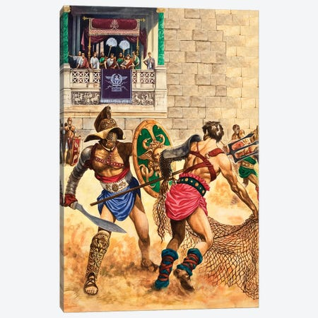 Gladiators Canvas Print #BMN7762} by Peter Jackson Art Print