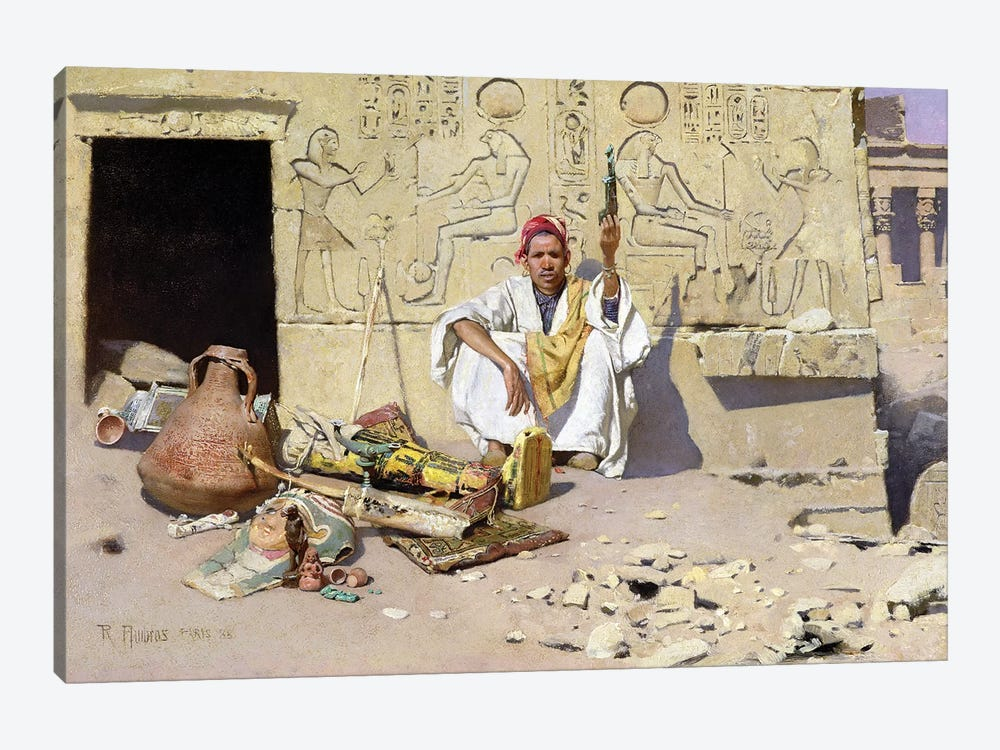 The Seller Of Artefacts, 1885 by Raphael von Ambros 1-piece Canvas Print