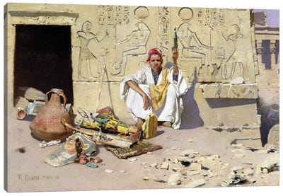 The Seller Of Artefacts, 1885 Canvas Art Print