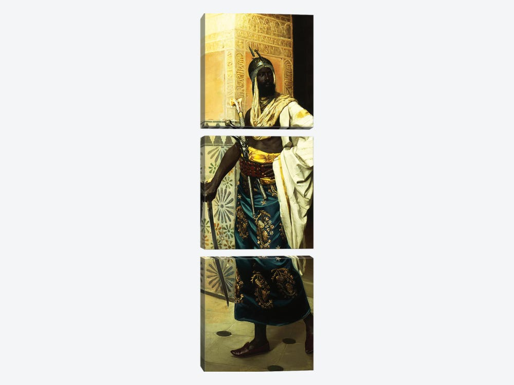 Nubian Guard by Rudolf Weisse 3-piece Canvas Art Print