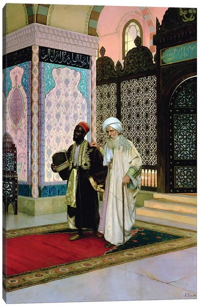 After Prayers At The Mosque Canvas Art Print