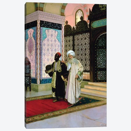 After Prayers At The Mosque 3-Piece Canvas #BMN7766} by Rudolphe Ernst Canvas Art