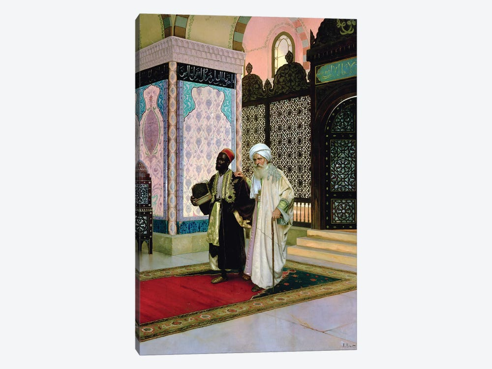 After Prayers At The Mosque by Rudolphe Ernst 1-piece Canvas Art