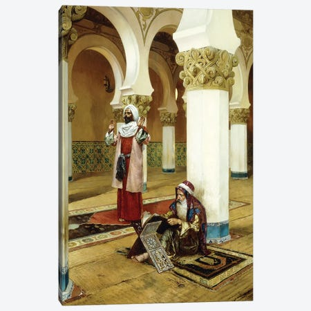 Evening Prayer Canvas Print #BMN7767} by Rudolphe Ernst Canvas Art