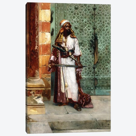 Standing Guard Canvas Print #BMN7768} by Rudolphe Ernst Canvas Art Print