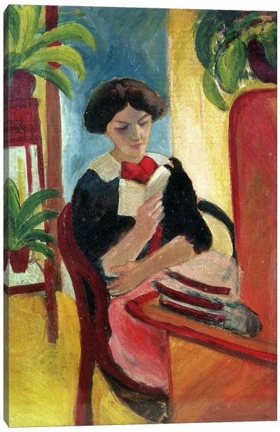 Elizabeth Reading by August Macke Canvas Print