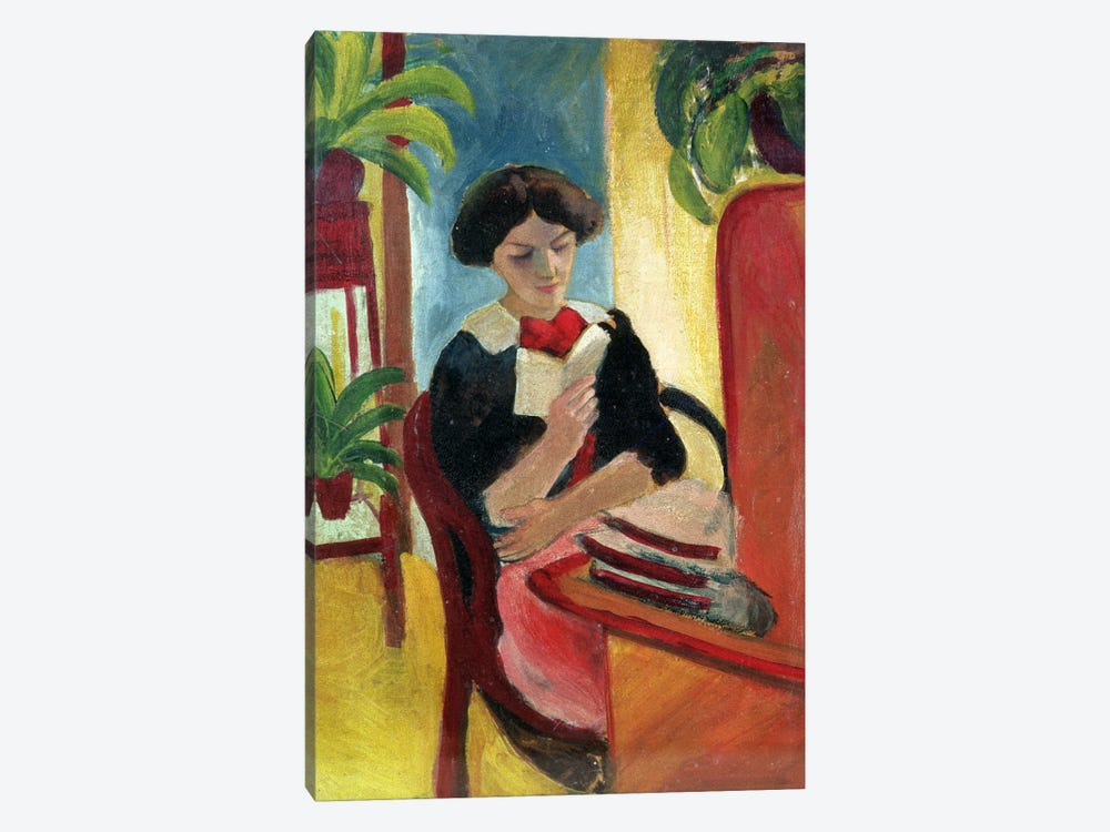 Elizabeth Reading by August Macke 1-piece Canvas Print