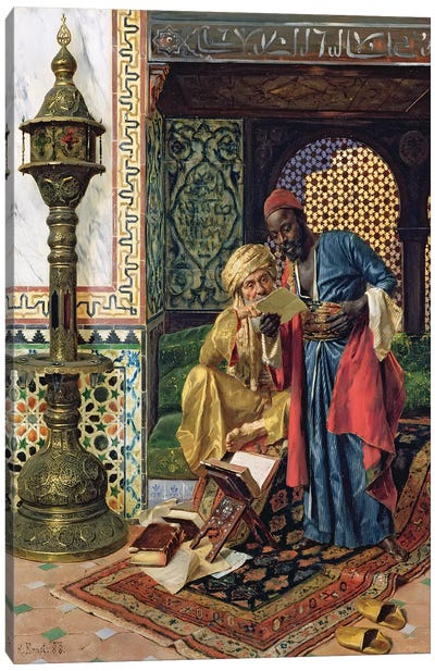 The Letter, 1888 Canvas Art Print