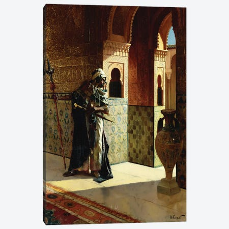 The Moorish Guard, The Alhambra Canvas Print #BMN7771} by Rudolphe Ernst Canvas Wall Art