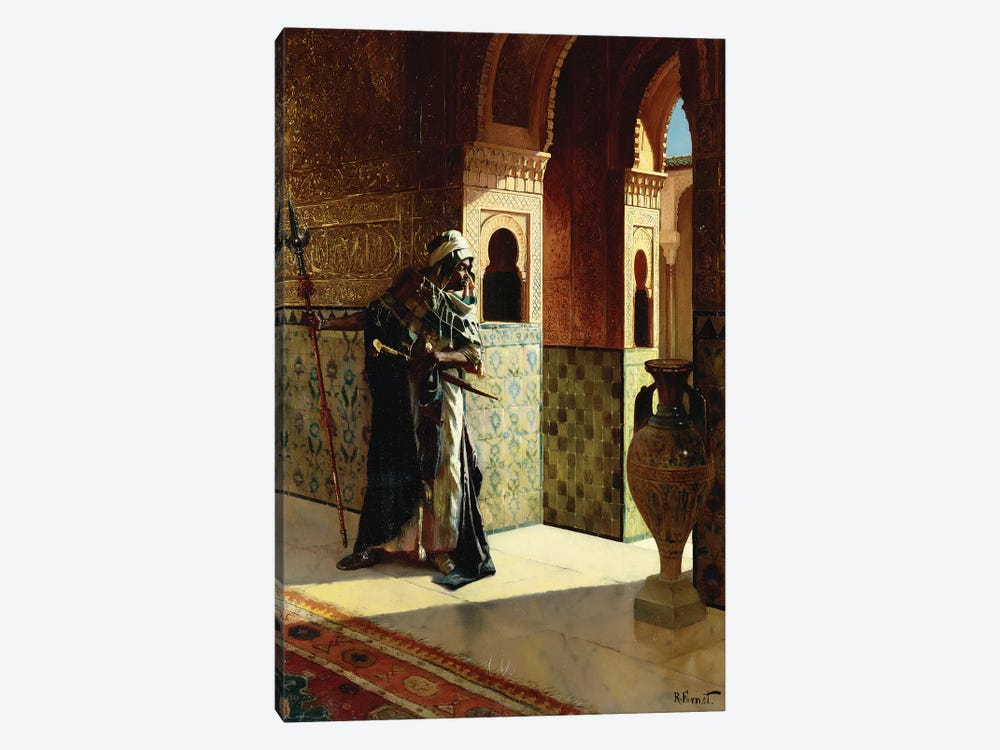 The Moorish Guard, The Alhambra by Rudolphe Ernst 1-piece Canvas Artwork