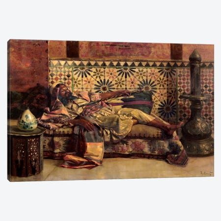The Narghileh Canvas Print #BMN7773} by Rudolphe Ernst Canvas Artwork