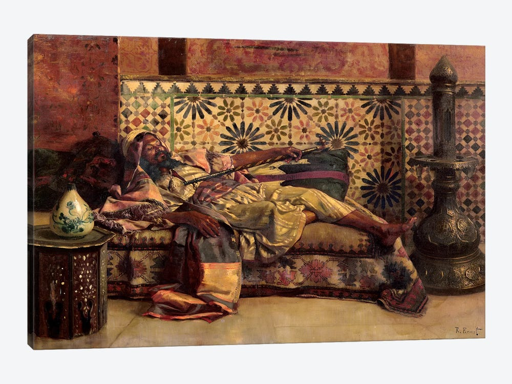 The Narghileh by Rudolphe Ernst 1-piece Canvas Artwork