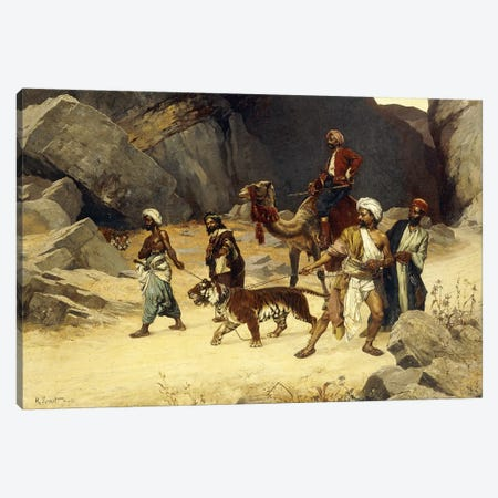 The Tiger Hunt, 1896 Canvas Print #BMN7775} by Rudolphe Ernst Canvas Art Print