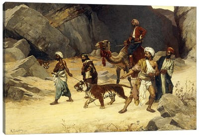 The Tiger Hunt, 1896 Canvas Art Print