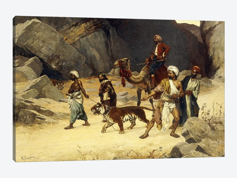 The Tiger Hunt, 1896 by Rudolphe Ernst 1-piece Canvas Art