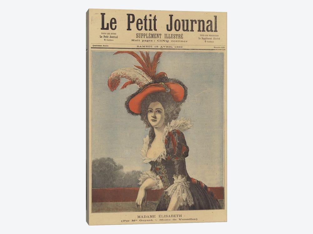 Madame Elisabeth by Adelaide Labille-Guiard 1-piece Canvas Art