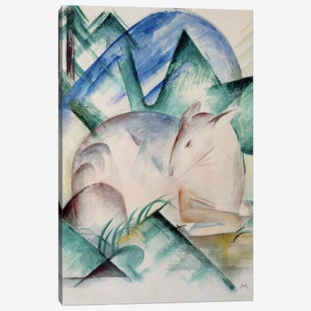 Sleeping Deer  Canvas Print #BMN777} by Franz Marc Canvas Print