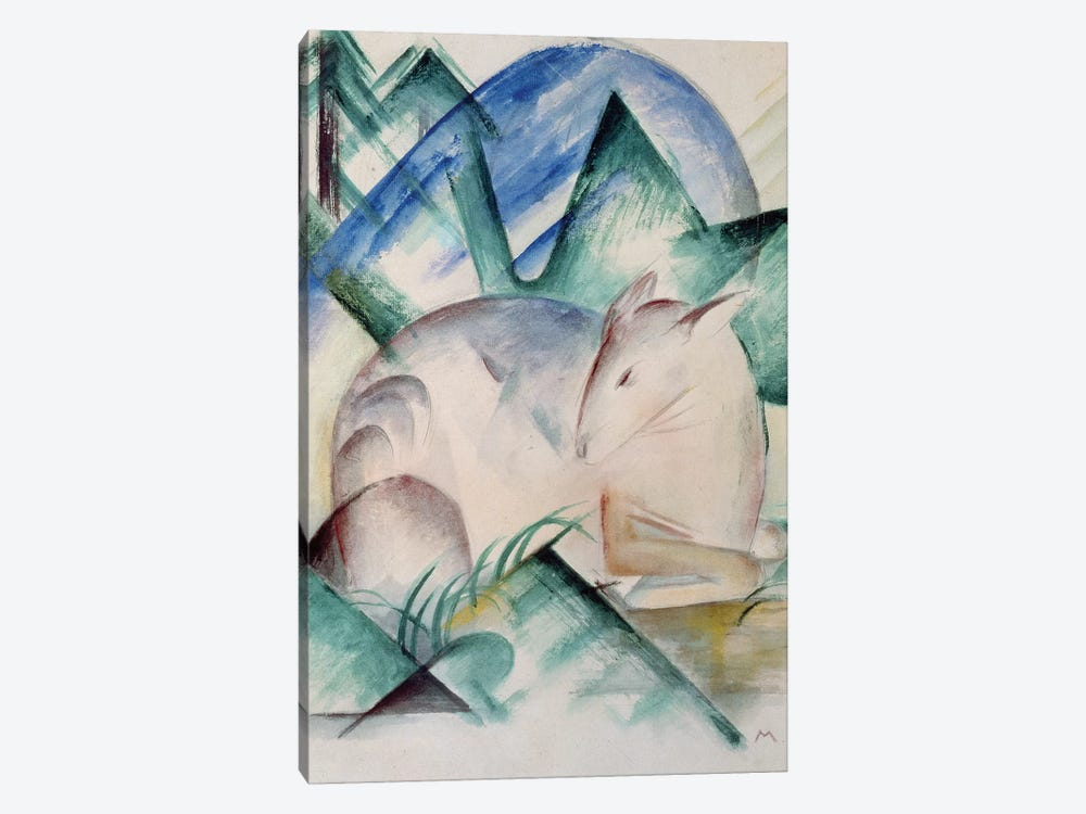 Sleeping Deer  by Franz Marc 1-piece Canvas Wall Art