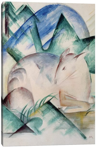 Sleeping Deer  Canvas Art Print