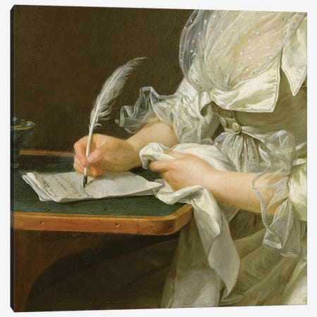 Portrait Of A Woman, c.1787 Canvas Print #BMN7781} by Adelaide Labille-Guiard Art Print