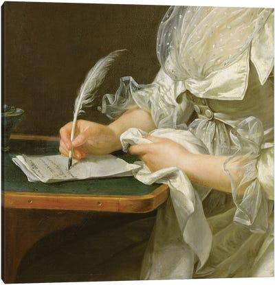 Portrait Of A Woman, c.1787 Canvas Art Print