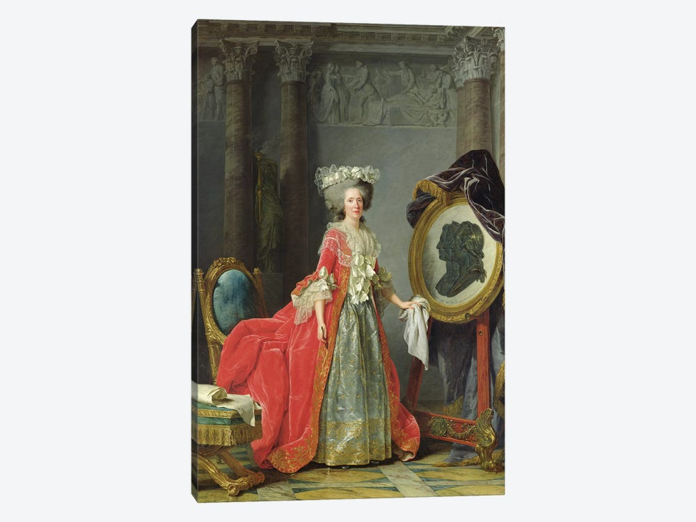 Portrait Of Adelaide De France, 1787 by Adelaide Labille-Guiard 1-piece Canvas Wall Art