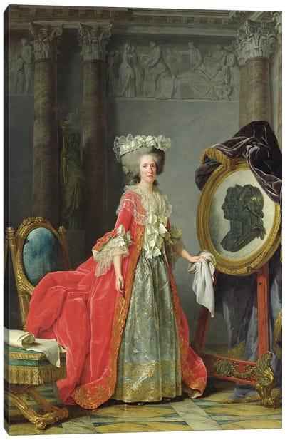 Portrait Of Adelaide De France, 1787 Canvas Art Print