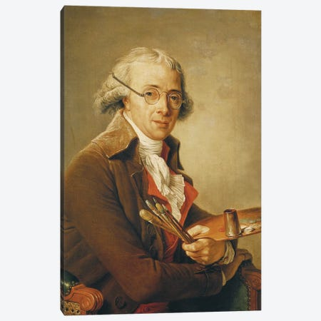 Portrait Of Francois-Andre Vincent (1746-1816) Canvas Print #BMN7783} by Adelaide Labille-Guiard Canvas Art Print