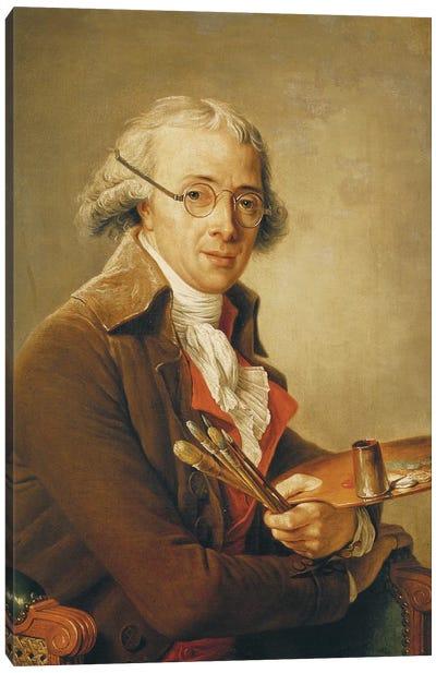 Portrait Of Francois-Andre Vincent (1746-1816) Canvas Art Print
