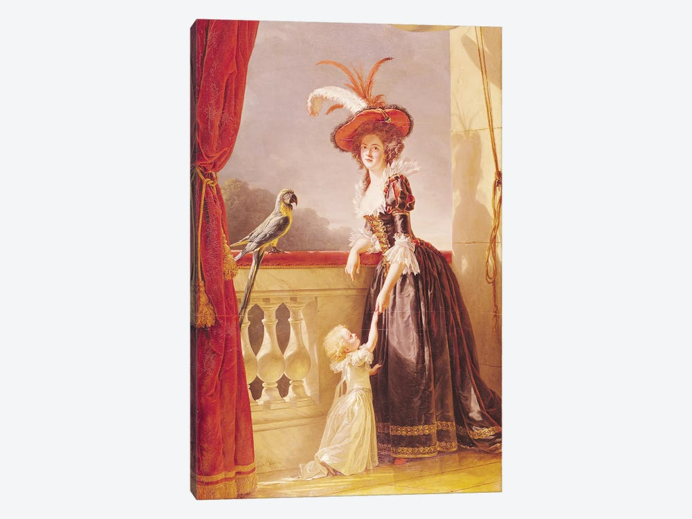 Portrait Of Louise-Elisabeth De France (1727-59) Duchess Of Parma And Her Son Ferdinand (1751-1802), 1786 by Adelaide Labille-Guiard 1-piece Canvas Wall Art
