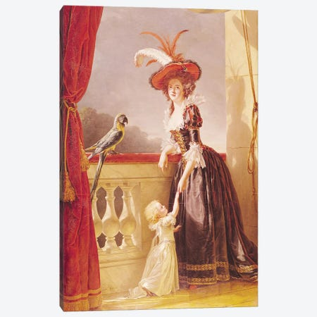 Portrait Of Louise-Elisabeth De France (1727-59) Duchess Of Parma And Her Son Ferdinand (1751-1802), 1786 Canvas Print #BMN7784} by Adelaide Labille-Guiard Canvas Wall Art