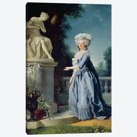 Portrait Of Marie-Louise (1733-99) Victoire De France Canvas Print #BMN7785} by Adelaide Labille-Guiard Canvas Wall Art