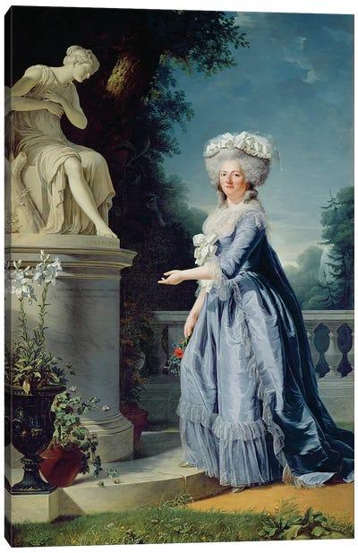 Portrait Of Marie-Louise (1733-99) Victoire De France Canvas Art Print