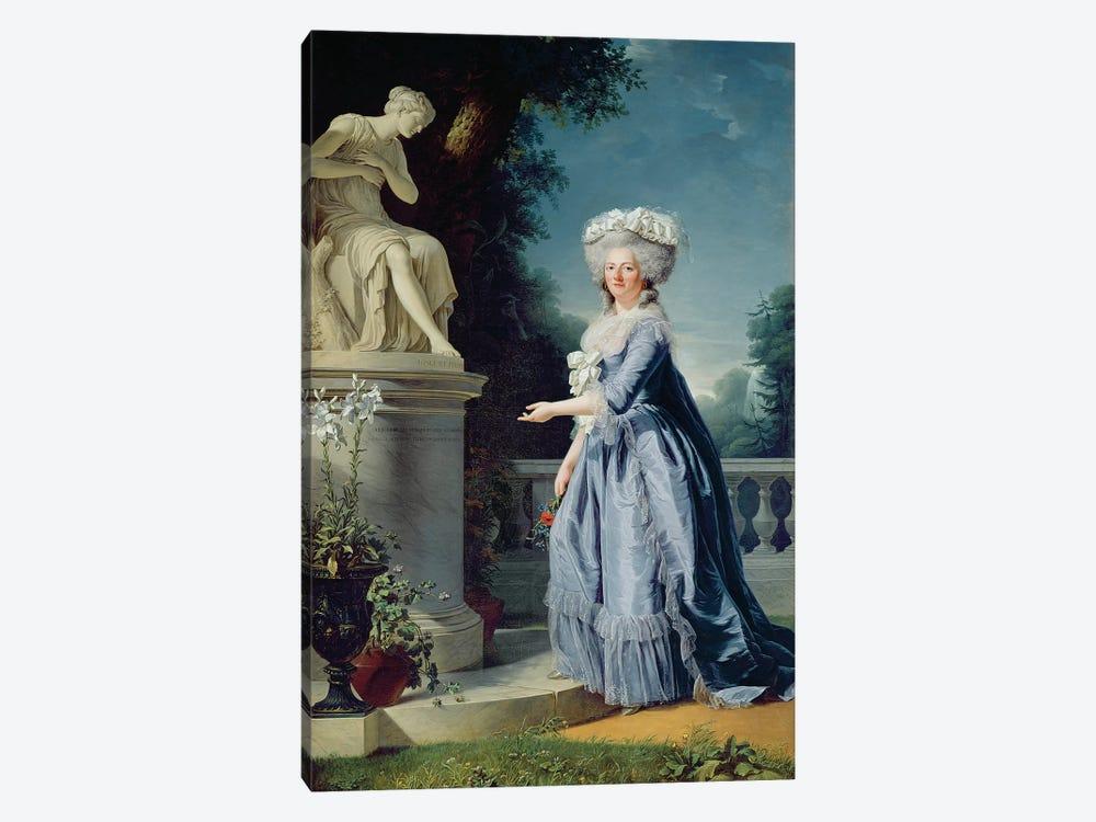 Portrait Of Marie-Louise (1733-99) Victoire De France by Adelaide Labille-Guiard 1-piece Canvas Print