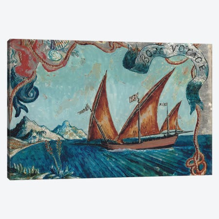 Bon Voyage, 1929 Canvas Print #BMN7789} by Dora Carrington Canvas Art Print