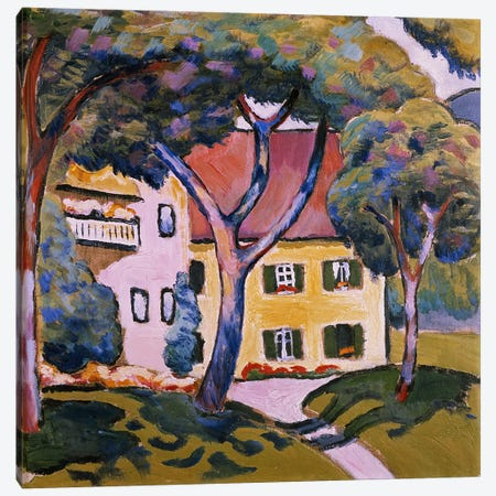House in a Landscape  Canvas Print #BMN778} by August Macke Canvas Artwork