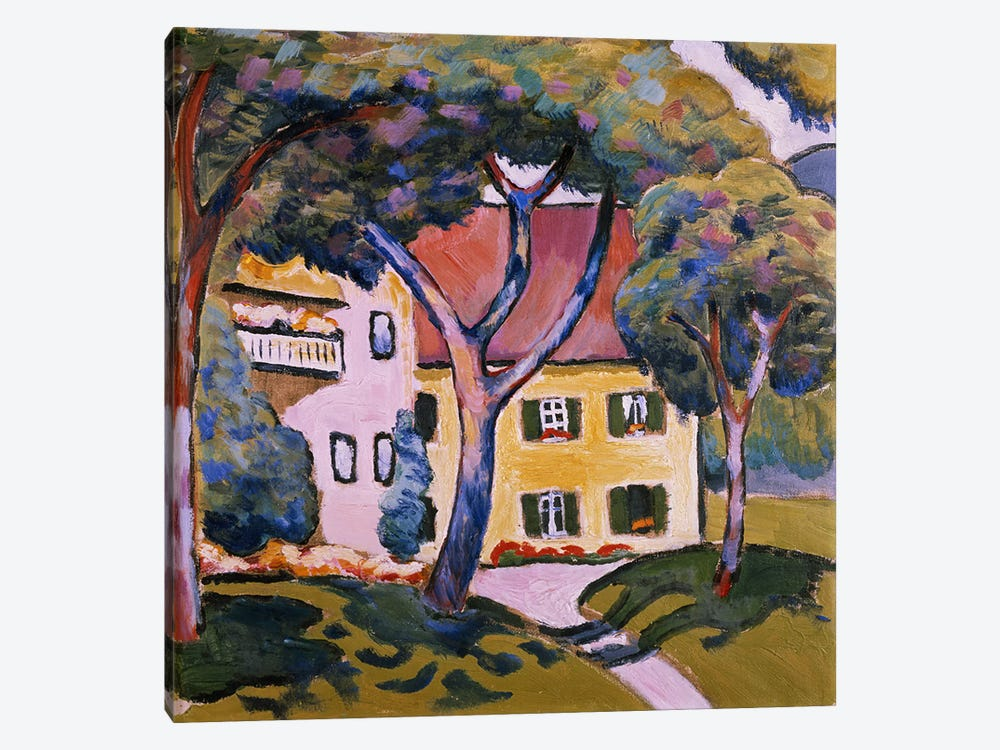House in a Landscape  by August Macke 1-piece Art Print