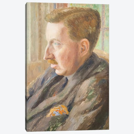 E. M. Forster, 1920 Canvas Print #BMN7790} by Dora Carrington Canvas Art