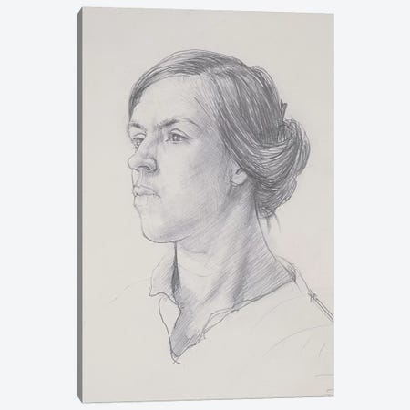 Head Of A Young Woman, c.1914 Canvas Print #BMN7792} by Dora Carrington Canvas Wall Art