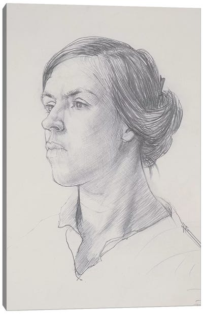 Head Of A Young Woman, c.1914 Canvas Art Print