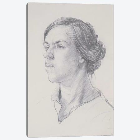 Head Of A Young Woman, c.1914 3-Piece Canvas #BMN7792} by Dora Carrington Canvas Wall Art