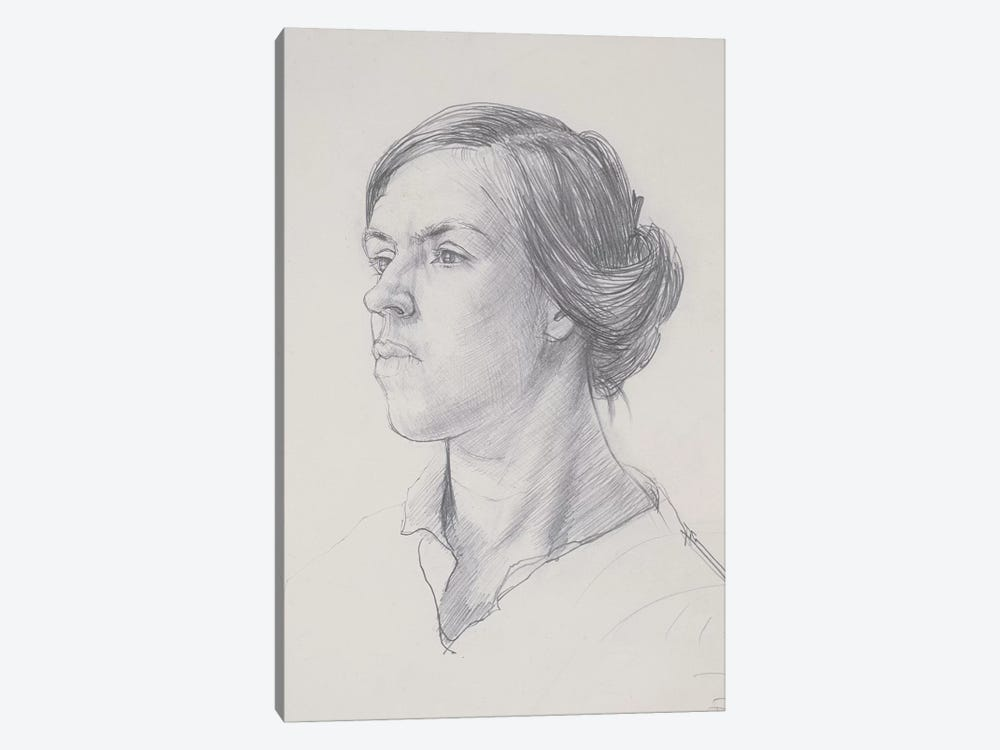 Head Of A Young Woman, c.1914 by Dora Carrington 1-piece Art Print