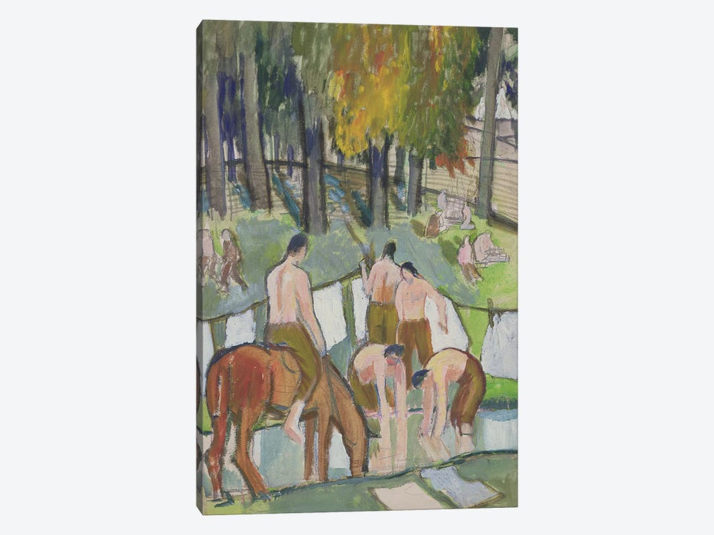 Soldiers At A Stream, 1920 by Dora Carrington 1-piece Canvas Art Print
