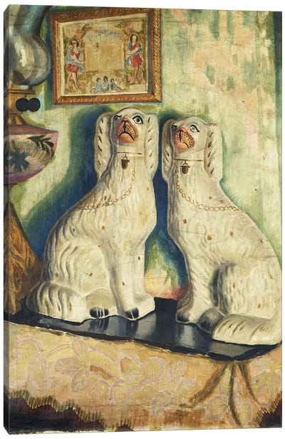 Staffordshire Dogs, c. 1928 Canvas Art Print