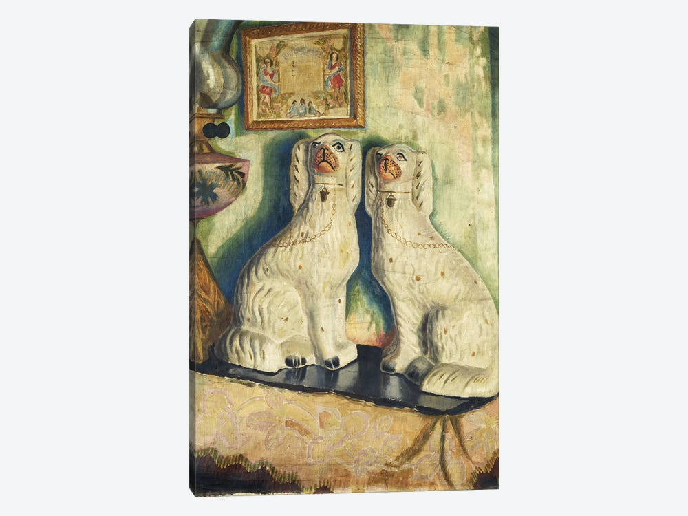 Staffordshire Dogs, c. 1928 by Dora Carrington 1-piece Canvas Wall Art