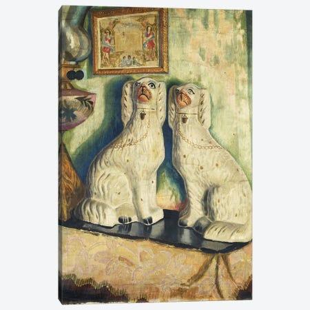 Staffordshire Dogs, c. 1928 3-Piece Canvas #BMN7799} by Dora Carrington Canvas Art