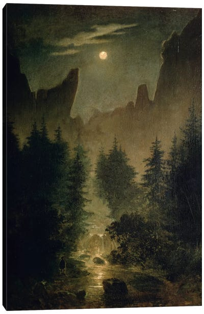Uttewalder Grund, c.1825 by Caspar David Friedrich Canvas Wall Art