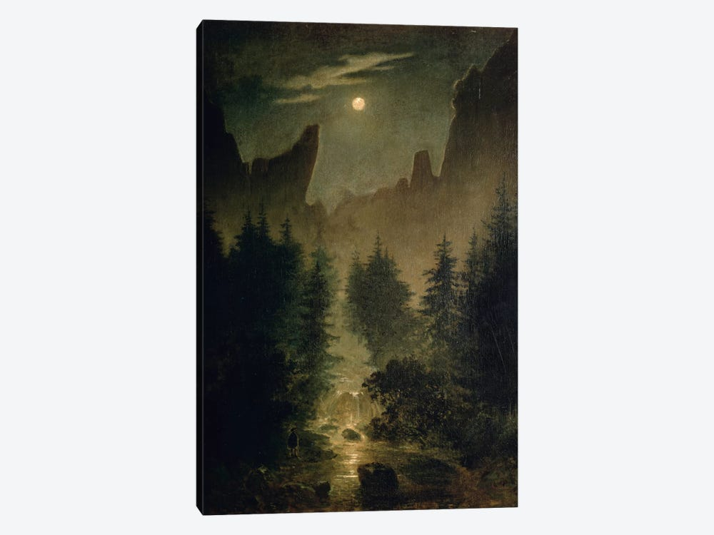 Uttewalder Grund, c.1825 by Caspar David Friedrich 1-piece Canvas Art